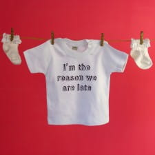 T Shirt - Personalised Baby Slogan