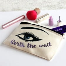 Make Up Pouch - Personalised Metallic Eye
