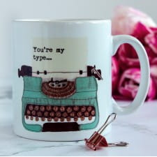 Vintage Typewriter Personalised Mug