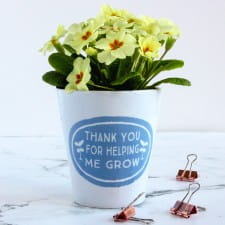 Plant Pot - Personalised Teacher's Gift