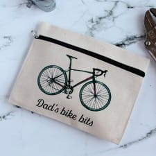 Zipped Pouch - Personalised Cyclist