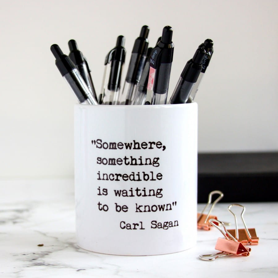 Teacher S Inspirational Quotes Desk Tidy