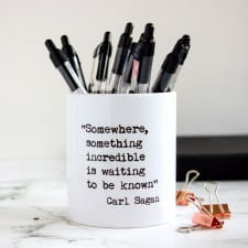 Teacher's Inspirational Quotes Desk Tidy