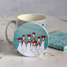 Coasters - set of Mad Hens