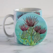 Coasters - set of thistle