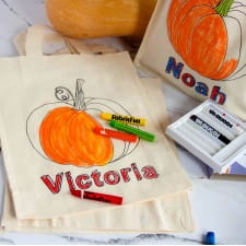 Colour in Halloween Trick or Treat Pumpkin Bag