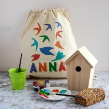 Paint your own bird house kit