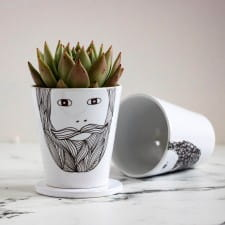 Beardy Man Personalised Plant Pot
