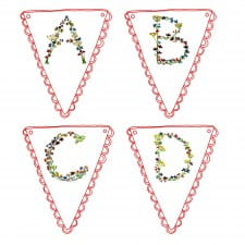 Floral Alphabet bunting download