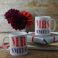 Mugs - Personalised Pair of Mr and Mrs